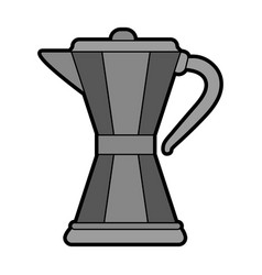 Stove top maker coffee beverage icon image vector