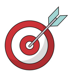Target blank arrow objetive vector