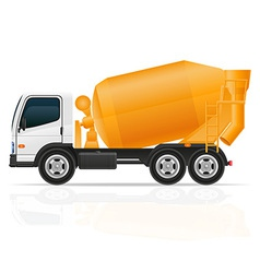 Truck concrete mixer vector