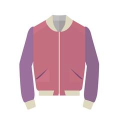 Unisex sport jacket flat style vector