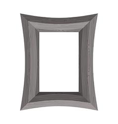 Vintage wooden picture frame of black wood vector