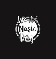 World music day celebration background vector