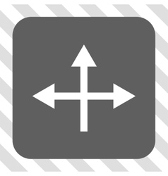 Intersection directions rounded square button vector
