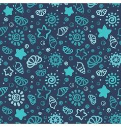 Summer shell pattern vector