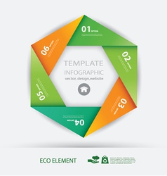 Paper element and numbers design template vector