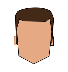 Color image faceless front view man with hairstyle vector