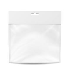 plastic pocket blank packing design vector image