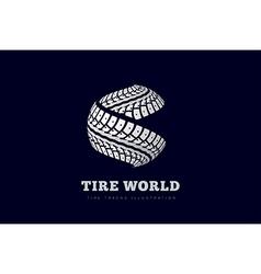 Tire track brand invert vector