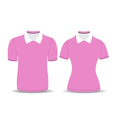 Pink polo shirt outline vector