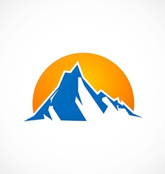 Mountain abstract horizon logo vector