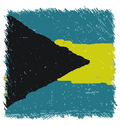 Flag of the bahamas handmade square shape vector