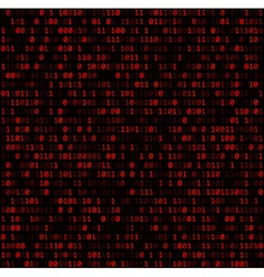 Binary background with red digits vector