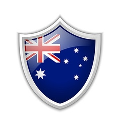 Australian shield icon vector