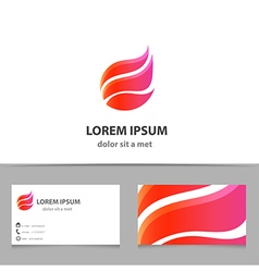 Business logo design with business card template vector