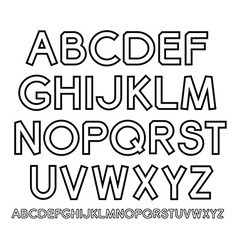 Outline alphabet vector