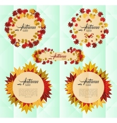 Autumn sale banner with colorful autumn leaves vector