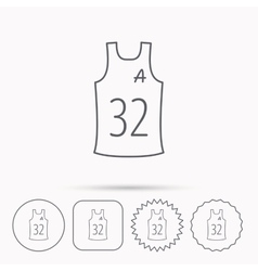 Team assistant icon basketball shirt sign vector