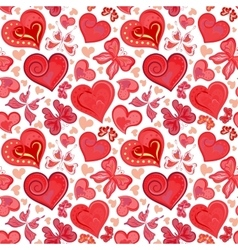Seamless valentine pattern with colorful vintage vector