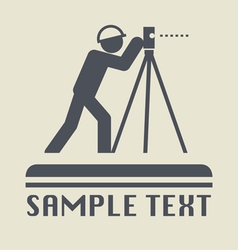 Land surveyor icon vector