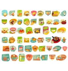 Food Stickers Big Set vector image