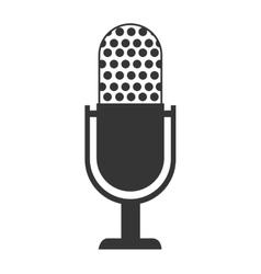 Radio microphone theme design isolated icon vector image