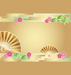 a japanese new years card template vector image