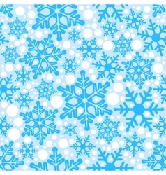 Blue background seamless snowflakes vector image
