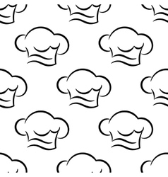 Chef or cook caps seamless outline pattern vector