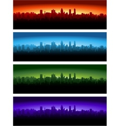 cityscape at different time of the day vector image