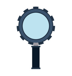 color silhouette of magnifying glass with shape of vector image vector image