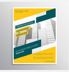 Creative yellow grometric business flyer brochure vector