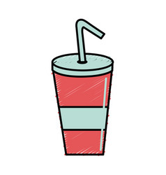 Delicious refreshing soda beverage vector