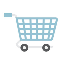ecommerce solutions flat icon seo and development vector image vector image
