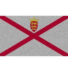 Flags jersey on denim texture vector