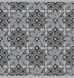 Flowers on gray neutral and black colors colour vector