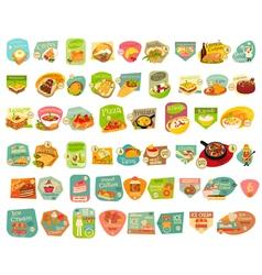 Food Stickers Big Set vector image vector image
