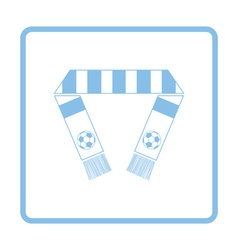 Football fans scarf icon vector