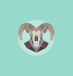 geometric head mountain sheep vector image vector image