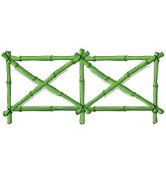 Green bamboo fence vector