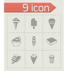 ice-cream icon set vector image