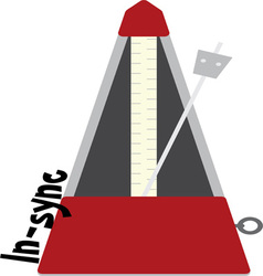 In-sync Metronome vector image
