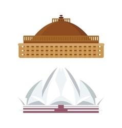India landmark taj mahal travel vector image vector image