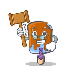 Judge ice cream character cartoon vector