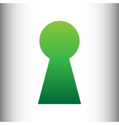 Keyhole sign green gradient icon vector