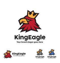 King eagle logo template vector