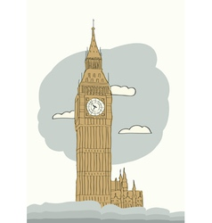 London big ben vector