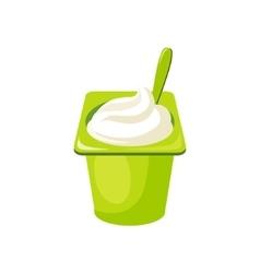 Plain yogurtmilk based product isolated icon vector
