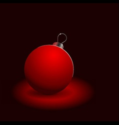 red christmas ball on black vector image vector image