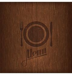 restaurant menu design on wood background vector image vector image