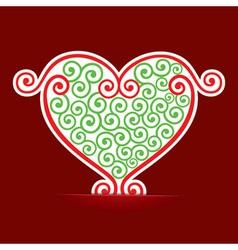 Seamless design make a heart background vector image vector image